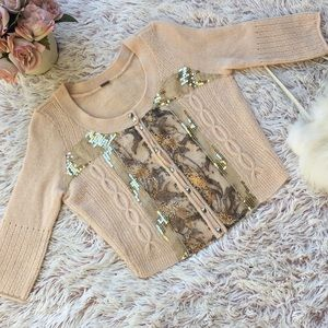 ✨Free People sequin embellished sweater